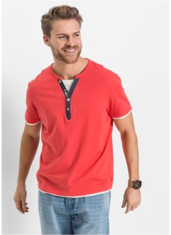 T-shirt Henley Regular Fit, John Baner JEANSWEAR