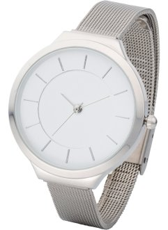 Montre bracelet métallique et mesh, bpc bonprix collection