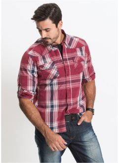 Chemise à carreaux Slim Fit, John Baner JEANSWEAR