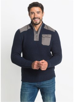 Pull à col montant Slim Fit, John Baner JEANSWEAR