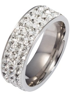 Bague avec pierres en strass, bpc bonprix collection