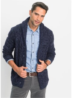 Gilet en maille à motif torsadé Regular Fit, bpc bonprix collection