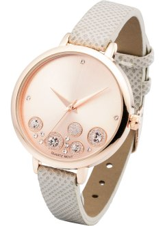 Montre bracelet avec strass, bpc bonprix collection