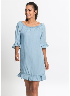 Robe en tencel à volants, BODYFLIRT
