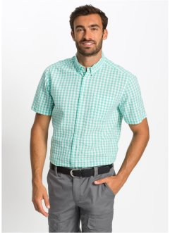 Chemise manches courtes seersucker Regular Fit, bpc selection