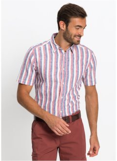 Chemise manches courtes à rayures Regular Fit, bpc selection