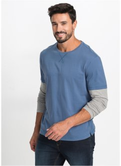 T-shirt manches longues 2en1 Regular Fit, bpc bonprix collection