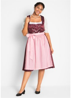 Dirndl avec tablier, mi-mollet, bpc bonprix collection