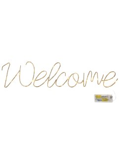 Inscription à LED Welcome, bpc living