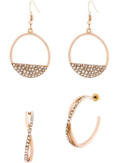 Paires de boucles d'oreilles (Ens. 4 pces.), bpc bonprix collection