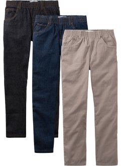 Lot de 3 pantalons garçon à enfiler, Loose Fit, John Baner JEANSWEAR