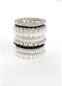 Set de 12 bracelets perles fantaisie, bpc bonprix collection
