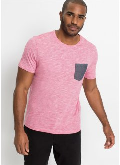 T-shirt chiné avec poche chambray, bpc bonprix collection