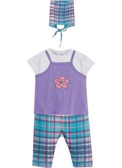 Robe bébé + T-shirt + legging + foulard (Ens. 4 pces.) coton bio, bpc bonprix collection