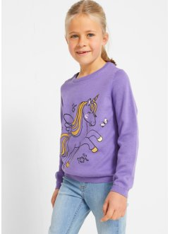 Pull en maille coton fille, bpc bonprix collection