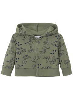 Gilet sweat-shirt bébé coton bio, bpc bonprix collection