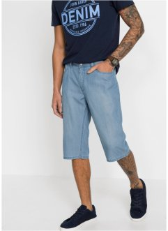 Bermuda long en jean Regular Fit avec TENCEL™ et lin, John Baner JEANSWEAR