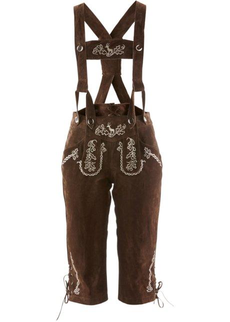 meticolosi processi di tintura buono sconto Super carino Culotte-courte bavaroise avec bretelles et broderie