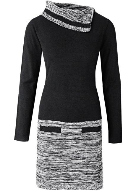 1cd72c128cc53 Robe en maille à manches longues noir - BODYFLIRT boutique commande ...