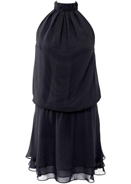 4ca4819426ffd Robe en chiffon style double épaisseur noir - BODYFLIRT - bonprix-wa.be