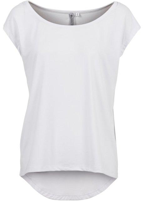 T-shirt avec coupe plus longue derrière que devant - blanc 3c90e114cb7b
