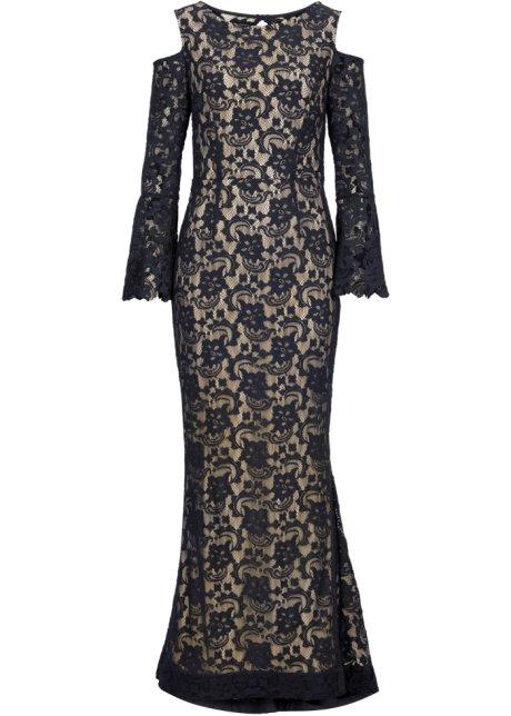 9d3ae80d2cbe Robe en dentelle noir marron clair - Femme - BODYFLIRT boutique ...