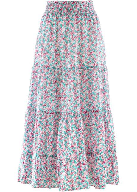 7d579833aa8e Jupe longue - designed by Maite Kelly rose nacre à fleurs - bpc ...