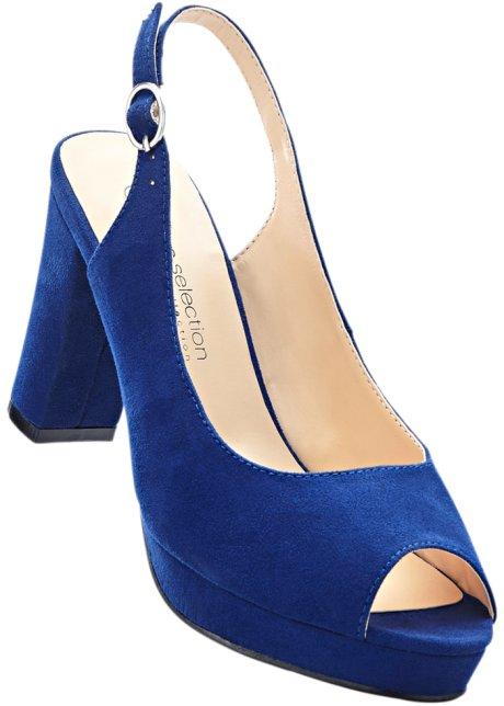 bpc selection Bonprix - Sandales à talons bleu pour femme