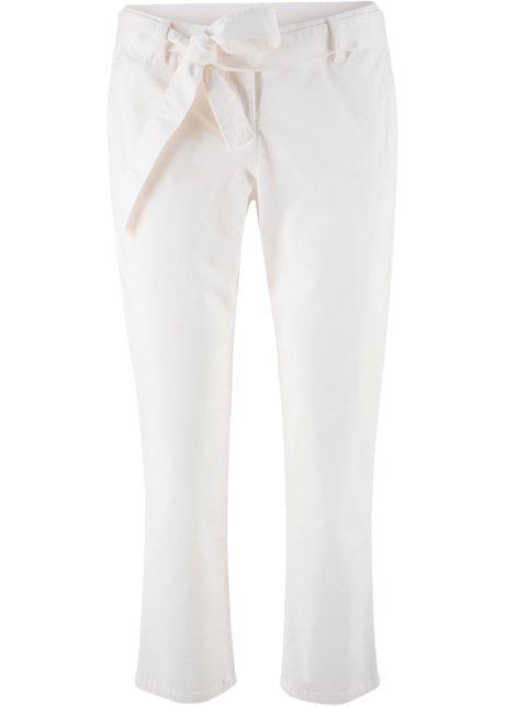 Pantalon extensible 7 8 avec lien à nouer blanc cassé - bpc bonprix ... 2e9f5c25d0fe
