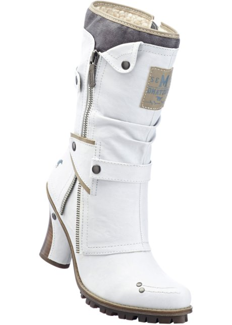 Femme Bonprix Blanc Mustang Bottes be Wa 8Aqp6x4Bn