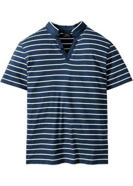 T-shirt polo Regular Fit bleu foncé rayé - Homme - bpc bonprix ... e6863d4b712e