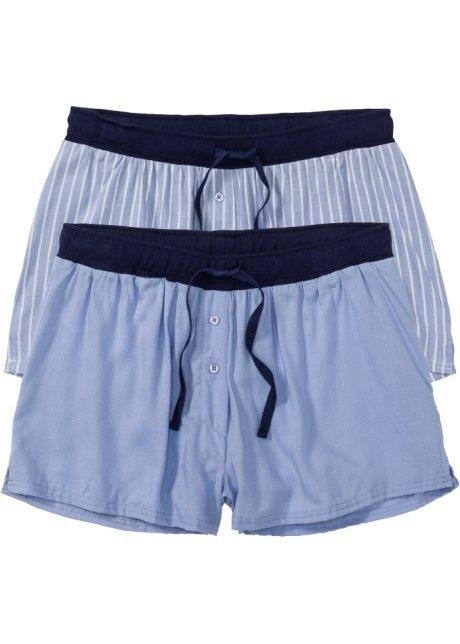 6ad96708c3e1c Lot de 2 shorts tissés bleu/blanc cassé rayé - bpc bonprix ...