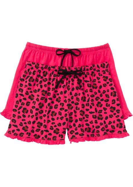 f247f66e997ee Lot de 2 shorts de pyjama rose hibiscus noir à motif - Femme ...