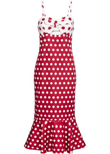 bbf88cdc8d3 Robe à pois rouge foncé blanc à pois - BODYFLIRT boutique commande ...