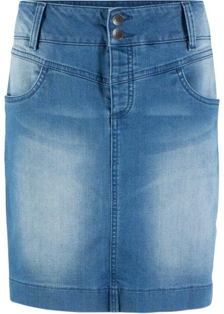 Stone Jean Responsable Jupe Éco Recyclé En Bpc Bleu Polyester fyY76gb