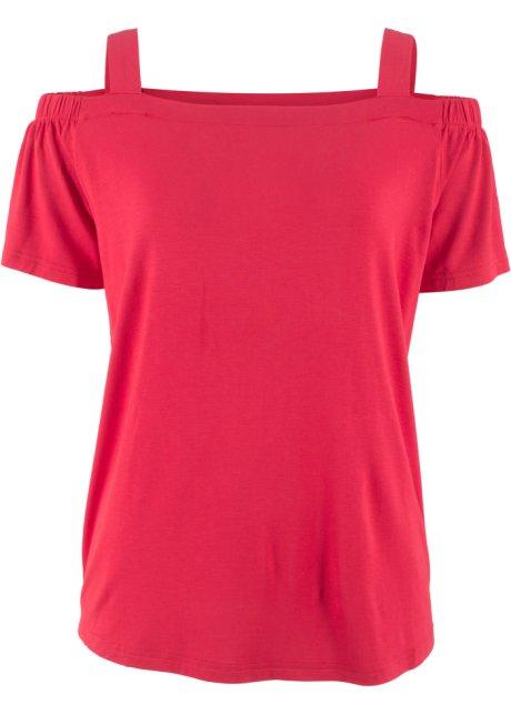 d4b777356fc5d T-shirt style Carmen à larges bretelles