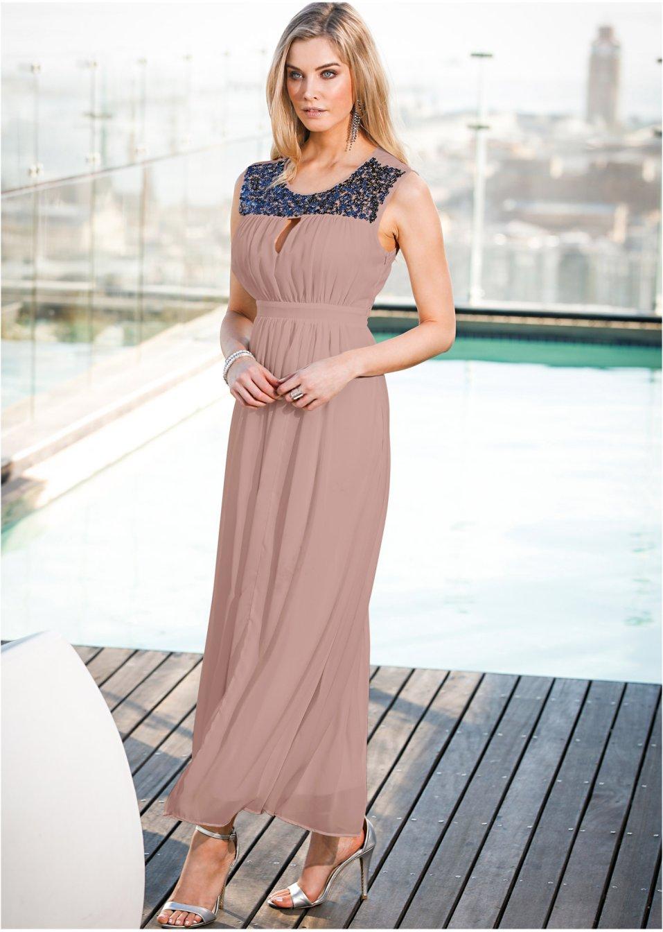1f11999128 Robe maxi longue rose vintage - Femme - bonprix-wa.be