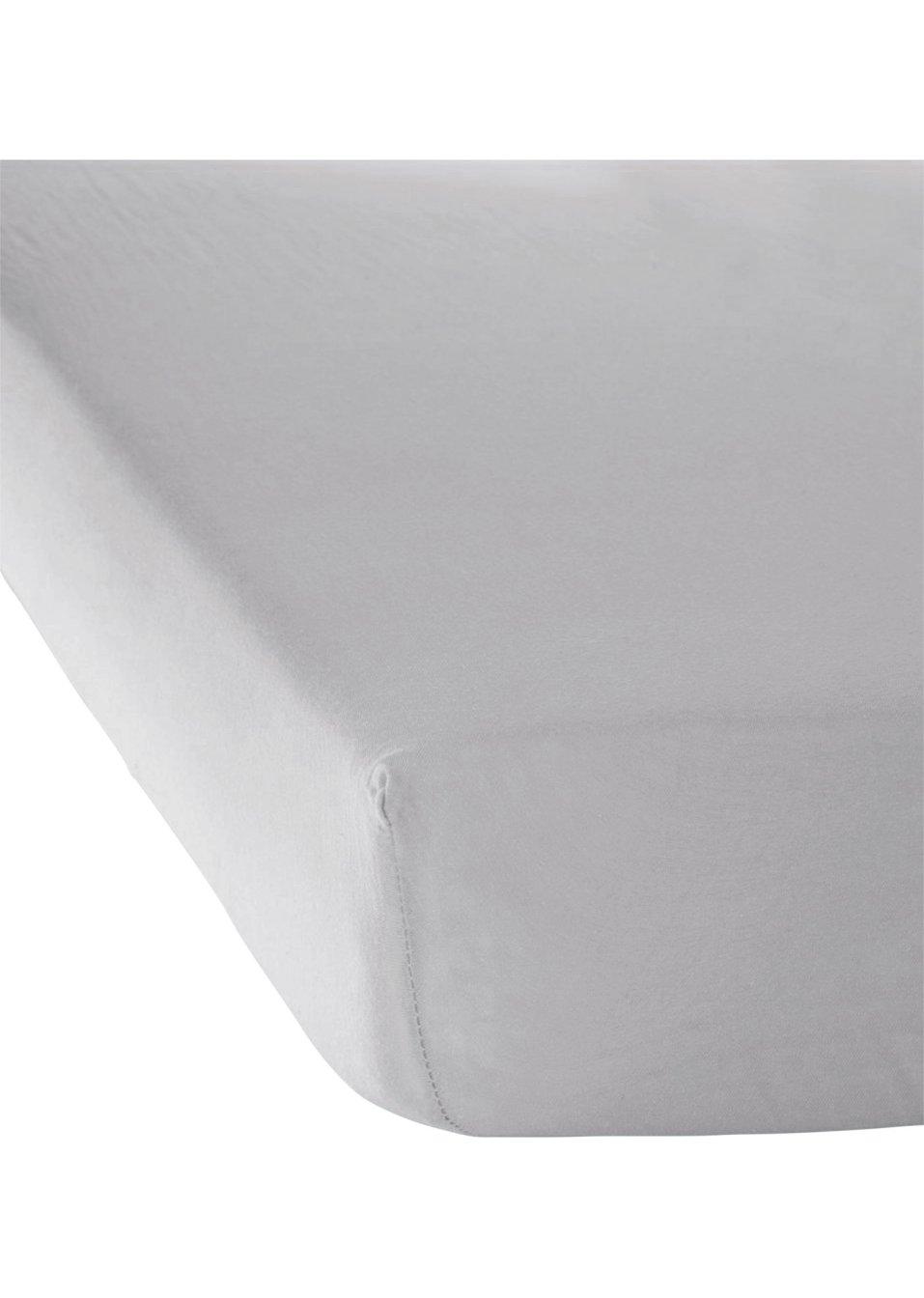 drap housse jersey taille sup rieure gris clair bpc living bonprix. Black Bedroom Furniture Sets. Home Design Ideas