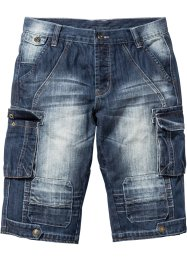 Bermuda long en jean Regular Fit, RAINBOW, dark bleu stone used