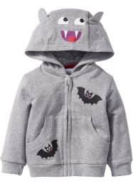 Gilet sweat-shirt bébé en coton bio, bpc bonprix collection