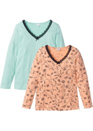 Lot de 2 T-shirts manches longues coton bio, bpc selection