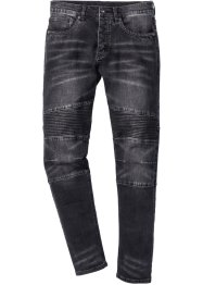 Jean extensible SLIM, RAINBOW, noir denim