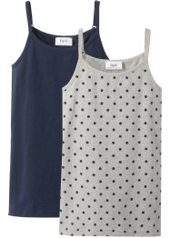 Lot de 2 tops en coton bio, bpc bonprix collection