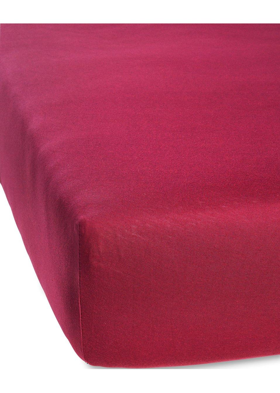 drap housse modal rouge maison bpc living bonprix. Black Bedroom Furniture Sets. Home Design Ideas