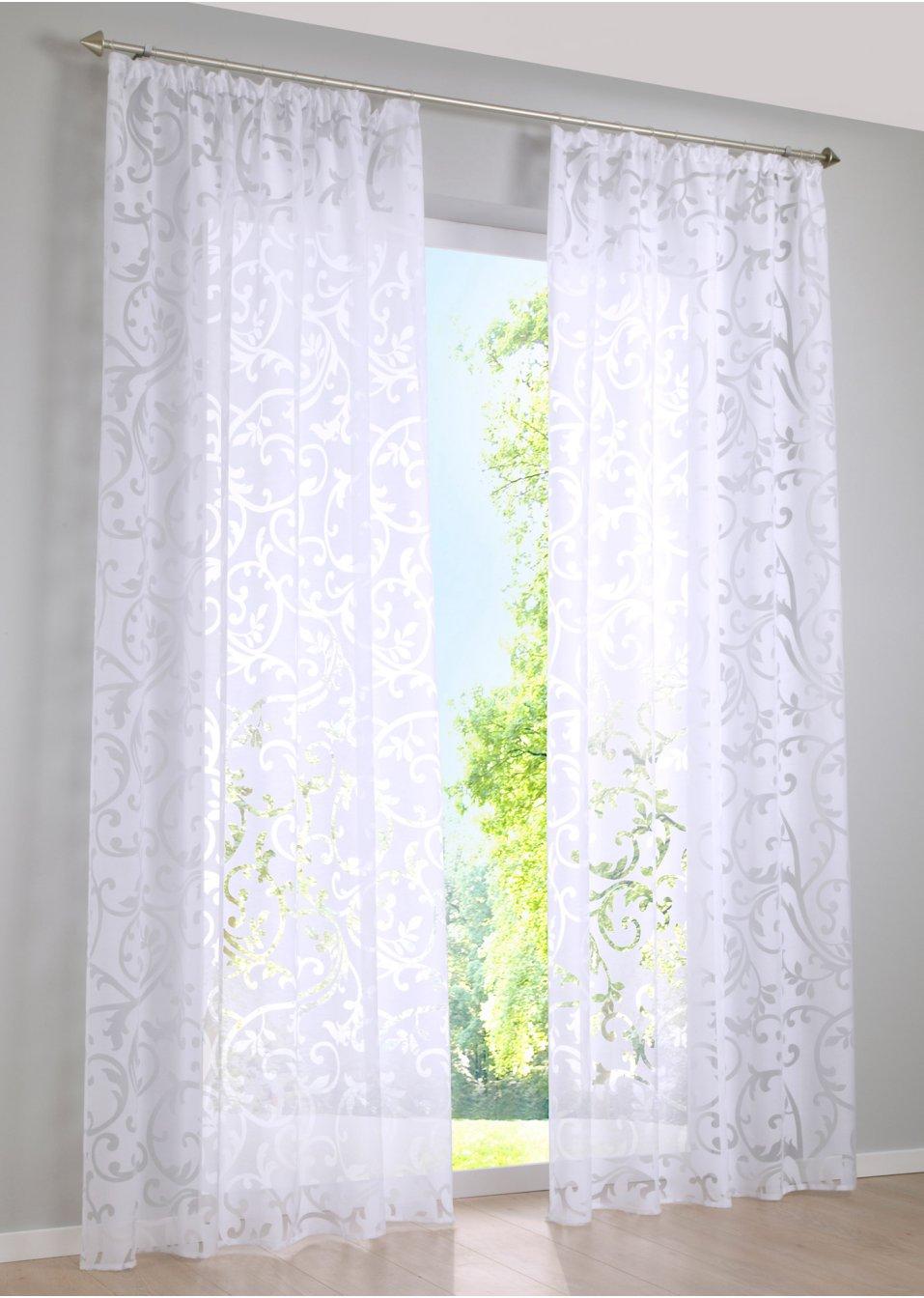voilage reno 1 pce blanc maison bpc living bonprix. Black Bedroom Furniture Sets. Home Design Ideas
