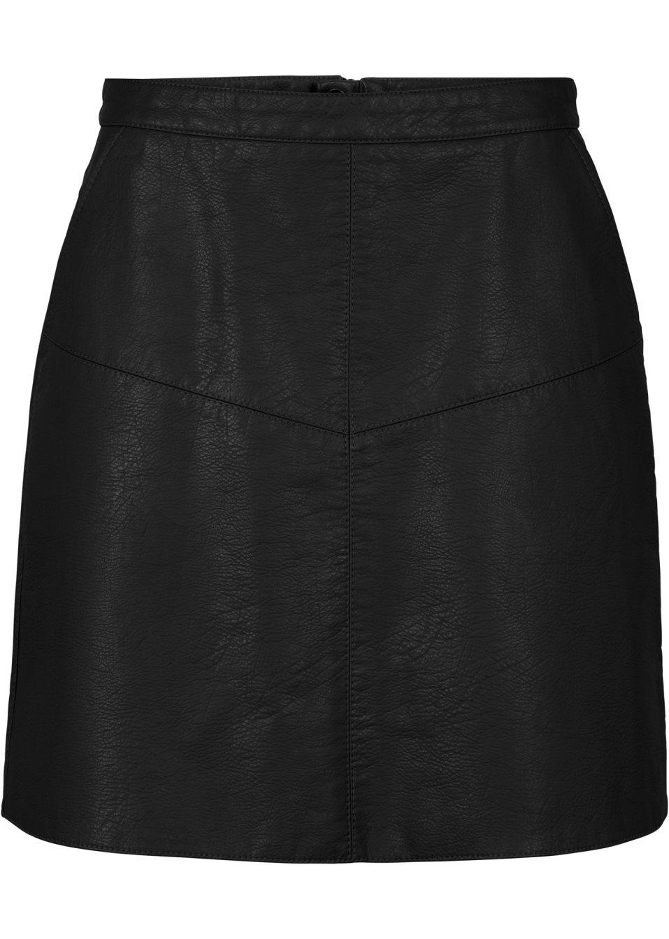 jupe en synth tique imitation cuir noir femme bodyflirt bonprix. Black Bedroom Furniture Sets. Home Design Ideas