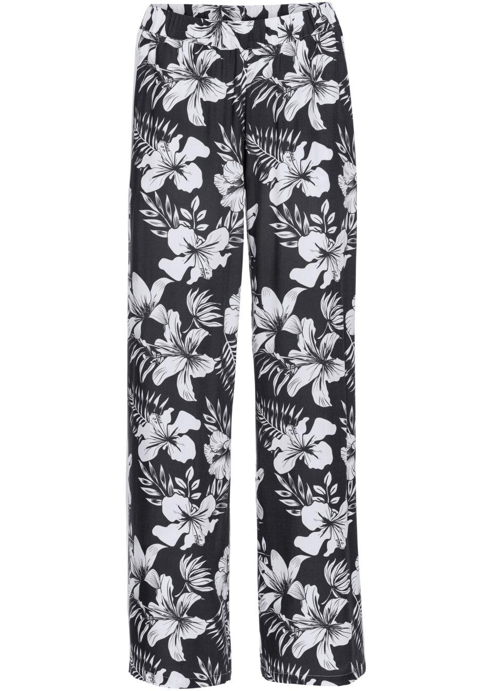 pantalon ample noir blanc imprim femme bodyflirt bonprix. Black Bedroom Furniture Sets. Home Design Ideas